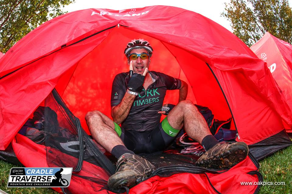 Camping is all part of the stage race fun.