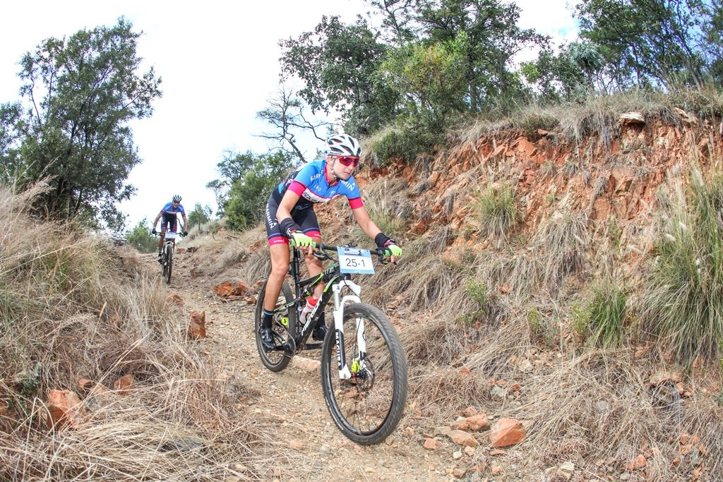 Yolandi du Toit and Ben Melt Swanepoel took part as fun riders in 2017 and relished the opportunity to simply ride their bikes rather than race. Photo by Oakpics.com.