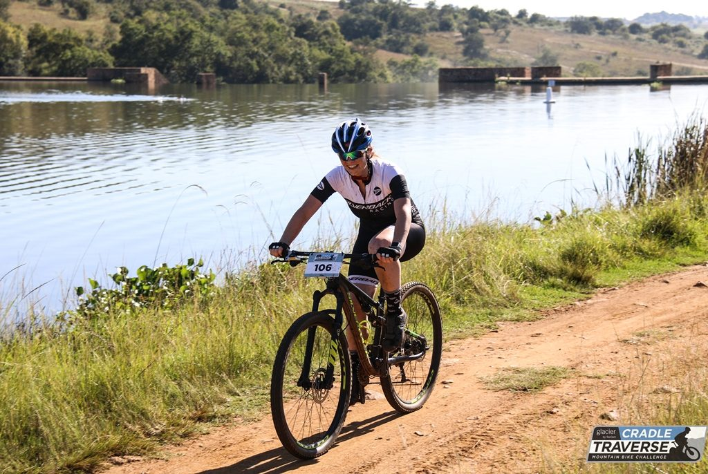 The 2018 Glacier Cradle Traverse is Michelle de Villiers' first bicycle race since she won the SA Junior Road Race in her matric year 6 years ago.  Photo by Sage Lee Voges for www.zcmc.co.za